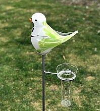 Regenmesser Vogel Flieder Glas H 132 cm