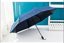 Regenschirm Sonnenschirm Falten Korea Sonnenschutz Anti-UV weiblichen Vinyl Sonnenschirm Dual Use ( Farbe : #1 )