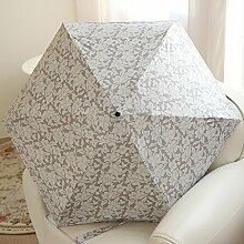Regenschirm Sonnenschutz Farbe Kleber Druck Blumen Telefon Umbrella Fünfzig Umbrella Ultra-light Sunny Umbrella Dual Use Weiblich ( Farbe : #2 )