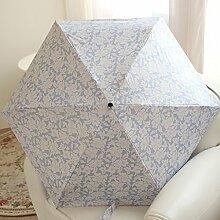 Regenschirm Sonnenschutz Farbe Kleber Druck Blumen Telefon Umbrella Fünfzig Umbrella Ultra-light Sunny Umbrella Dual Use Weiblich ( Farbe : #1 )