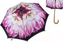 Regenschirm, Stockschirm DAHLIE L. 90cm D. 96cm schwarz rosa pink Formano (19,90 EUR / Stück)