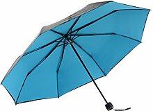 Regenschirm Vinyl Sonnenschutz Anti-UV Fold Sonnenschirm Sonnenschirm UPF50 + ( Farbe : #1 )