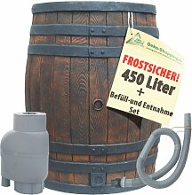 REGENTONNE EICHENFASS 450L mit REGEN-FILTER SET