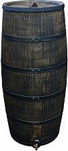 Regentonne Regenfass Weinfass Wasserspeicher Eichenfass Wassertonne aus Kunststoff 500Liter