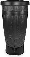 Regentonne Regenfass Woodcan Holznachbildung Kunststoff 265 L mit Ständer (Anthrazit)