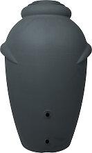 Regentonne Wasserbehälter Amphore Anthrazit 360L