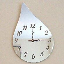 Regentropfen Spiegel - 25cm Uhr Spiegel mit