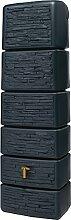 Regenwasserbehälter / Wandtank, geringer Platzbedarf, graphit-grey, B x H x T: 58 x 182 x 37 cm, 300 Ltr., 583436