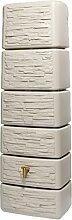 Regenwasserbehälter / Wandtank, geringer Platzbedarf, sandbeige, B x H x T: 58 x 182 x 37 cm, 300 Ltr., 583437