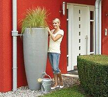 Regenwassertank 2in1 300 Liter zinkgrau