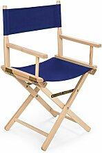 REGIESTUHL Stuhl aus Holz Campingstuhl (blau)
