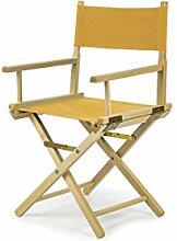 REGIESTUHL Stuhl aus Holz Campingstuhl (GELB)