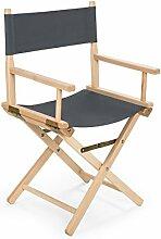 REGIESTUHL Stuhl aus Holz Campingstuhl (grau)