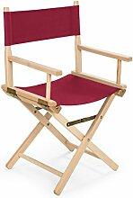 REGIESTUHL Stuhl aus Holz Campingstuhl (rot)