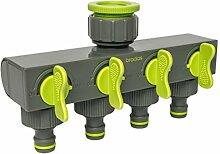 regulierbarer 4-fach-Verteiler für Gartenschlauch