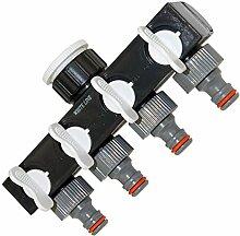 regulierbarer 4-fach-Wegverteiler Absperrhahn Schlauchverteiler Wasserverteiler