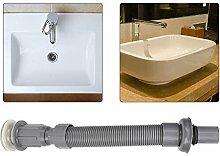 Regun Metallabflussrohr, graues Badezimmer
