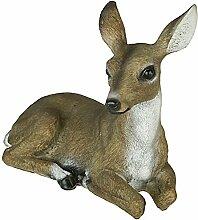 Reh Kitz Figur Gartenfigur Gartendeko Wildlife