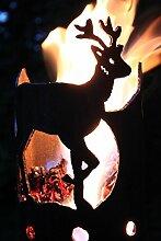Reh Rehbock Fackel - Set mit Stiel und Brennmitteln