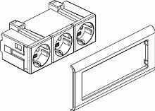 Rehau Elektro. Inst.–Zeichen Beispiel 3x Ausgang 17300081610lgr signo CUBICO Sockel