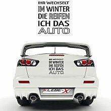 Reifen wechseln Winter Edition Tuning Aufkleber