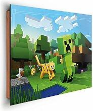 REINDERS Minecraft - Wandbild 90 x 60 cm