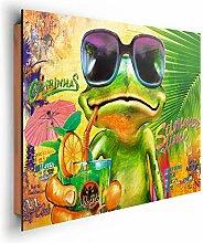REINDERS Summer Time Frosch - Wandbild 90 x 60 cm