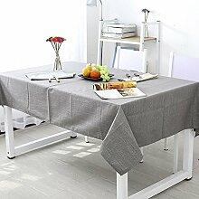 reine farbe baumwolle und leinen tischdecke Hotel hause Couchtisch Geschirr staub tuch , dark gray , 120x120cm