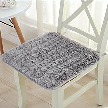 Reine Farbe Plüsch Esstische und Stühle pad Rutschfester ergonomischer Stuhl Sitzpolster-50 * 50 cm Studenten Hocker (es gibt andere Größe), Quadrat - Grau
