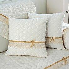 Reine Farbe Plüsch Sofakissen/ Kissen im Büro/ Bett Kissen/ Taille-Kissen/Kissenbezug-A 45x45cm(18x18inch)VersionA