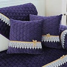 Reine Farbe Plüsch Sofakissen/ Kissen im Büro/ Bett Kissen/ Taille-Kissen/Kissenbezug-B 45x45cm(18x18inch)VersionB