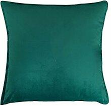 Reine Farbe velvet velvet Kissen Kissen Kissen Sofakissen großes Bett Kissen zurück Pad, 50X50, grün Paock