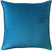 Reine Farbe velvet velvet Kissen Kissen Kissen Sofakissen großes Bett Kissen zurück Pad, 50 X 50, Kobaltblau
