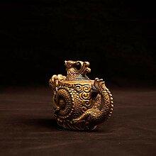Reine Kupfer Ornamente Dragon und Phoenix Aquarium