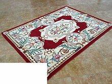 reine Wolleteppich/Schlafzimmer Esszimmer Wohnzimmer Couchtisch Sofa Teppich/Verdickte pastorale Einfachheit chinesische Teppich-D 140x200cm(55x79inch)