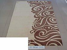 reine Wolleteppich/Schlafzimmer Esszimmer Wohnzimmer Couchtisch Sofa Teppich/Verdickte pastorale Einfachheit chinesische Teppich-J 140x200cm(55x79inch)