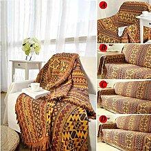 Reiner Baumwolle geflochtene Boho Wurfdecken Sofa