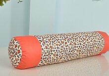 Reiner Baumwolle Kissen Candy-Kissen Sofakissen Bett Kissen Büropolster-A 55x12cm(22x5inch)VersionB