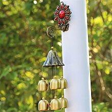 Reines Kupfer Wind Chimes Anhänger Tür Dekoration home kreative Glocken Weihnachtsgeschenke, W