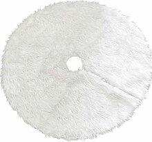 Reines Snowy White Plüsch mit Non-Woven Stoff