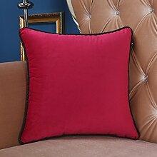 Reines Sofa Kissenbezug/Gro?es Bett Rückenlehne/Einfache Samtkissen/Autotaillenkissen-I 45x45cm(18x18inch)VersionB