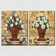 Reines weißes Blumenbild, modernes Kunstbild,