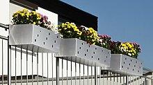 Reinkedesign Blumenkasten aus Edelstahl 100 cm mit