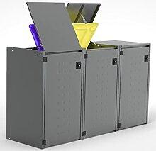 Reinkedesign Mülltonnenbox Boxxi mit Pultdach aus