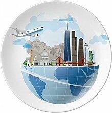 Reise Reise Amerika Mount Flugzeug Porzellan