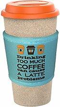 Reisebecher 450ml umweltfreundlicher Eco Kaffee to