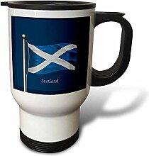 Reisebecher, Motiv: winkende Flagge von Schottland