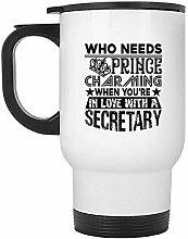 Reisebecher verliebt in einen Sekretär