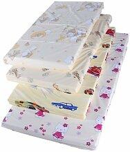 Reisebettmatratze Kindermatratze Babymatratze Kinderbettmatratze Reisebett (gelb, 120x60x6 cm)
