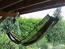 Reisehängematte Travel Hängematte Camouflage-Tarnfarbend